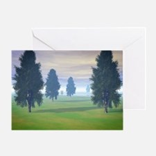Fairway To Seven Greeting Cards