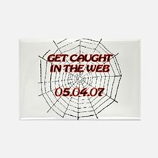 Spiderman - Web - Date Rectangle Magnet