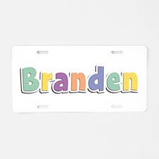 Branden Spring14 Aluminum License Plate