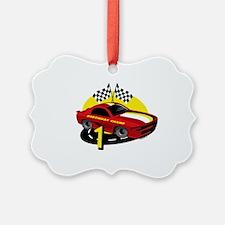 Race Car 1st Birthday Ornament