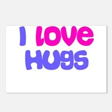 I LOVE HUGS Postcards (Package of 8)