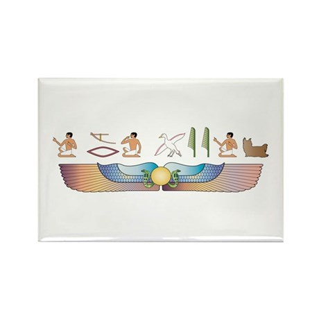 Yorkie Hieroglyphs Rectangle Magnet (100 pack)