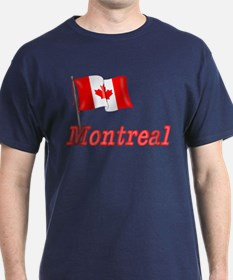 Canada Flag - Montreal Text T-Shirt