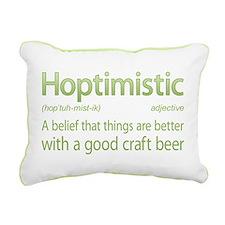 Hoptimistic Beer Rectangular Canvas Pillow