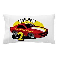 Race Car 2nd Birthday Pillow Case