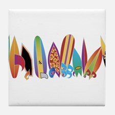 Funny Waves Tile Coaster
