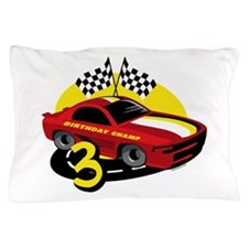 Race Car 3rd Birthday Pillow Case
