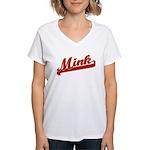 Mink Women's V-Neck T-Shirt