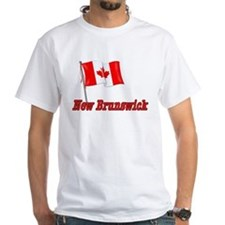 Canada Flag - New Brunswick Text Shirt
