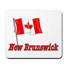 Canada Flag - New Brunswick Text Mousepad