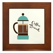 Coffee Break Framed Tile