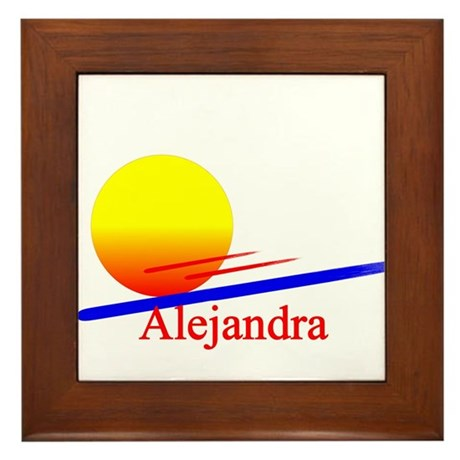 Alejandra Framed Tile