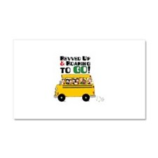 Revved Up And Roaring To Go! Car Magnet 20 x 12