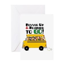 Revved Up And Roaring To Go! Greeting Cards