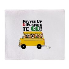 Revved Up And Roaring To Go! Throw Blanket
