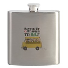 Revved Up And Roaring To Go! Flask
