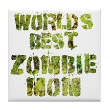 Worlds Best Zombie Mom Tile Coaster