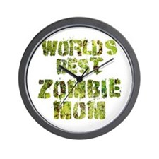 Worlds Best Zombie Mom Wall Clock
