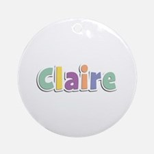Claire Spring14 Round Ornament