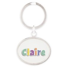 Claire Spring14 Oval Keychain