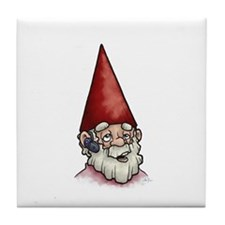 Hands Free Gnome Tile Coaster
