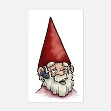 Hands Free Gnome Rectangle Decal