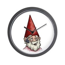 Hands Free Gnome Wall Clock
