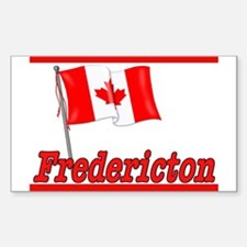 Canada Flag - Fredericton Text Sticker (Rectangula