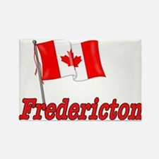 Canada Flag - Fredericton Text Rectangle Magnet