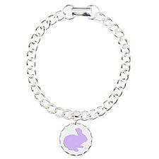 Purple Polka Dot Silhouette Easter Bunny Bracelet