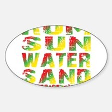 TIKI - RUM SUN WATER SAND - RASTA Decal