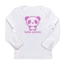 Cute Panda Long Sleeve Infant T-Shirt