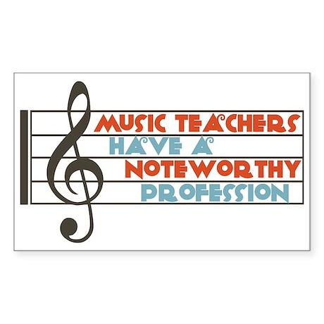Music Teacher Rectangle Sticker