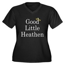 Good Little Heathen Women's Plus Size V-Neck Dark