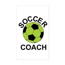 Soccer Coach Green Rectangle Decal