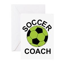 Soccer Coach Green Greeting Cards (Pk of 10)