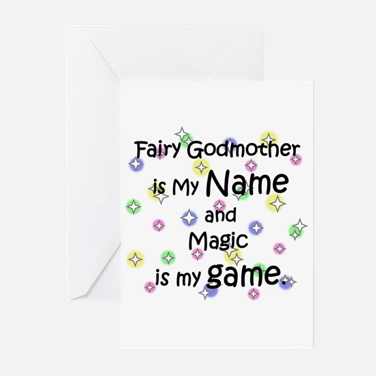Fairy Godmother Name Greeting Cards (Pk of 10)