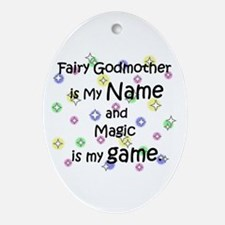 Fairy Godmother Name Oval Ornament