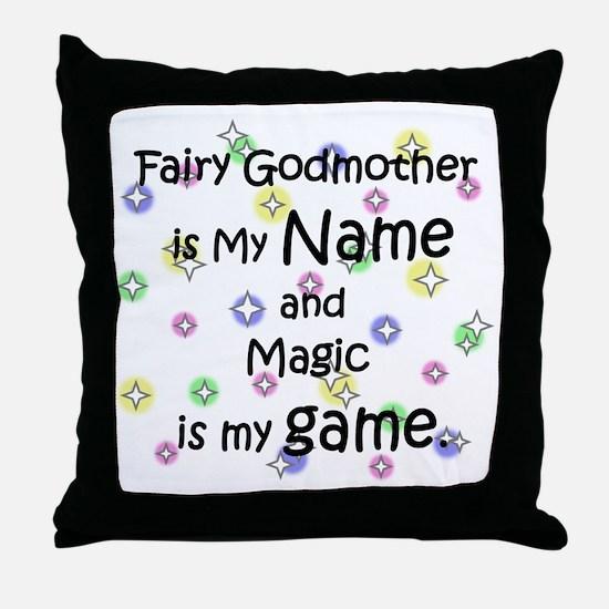 Fairy Godmother Name Throw Pillow