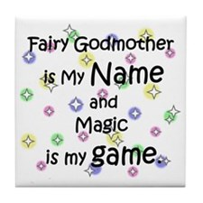 Fairy Godmother Name Tile Coaster