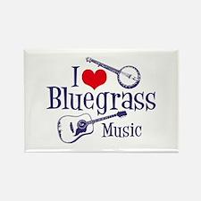 I Love Bluegrass Rectangle Magnet