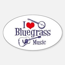 I Love Bluegrass Oval Decal