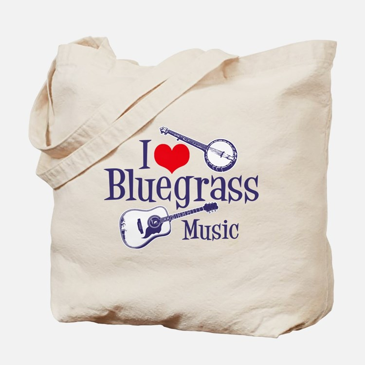 I Love Bluegrass Tote Bag