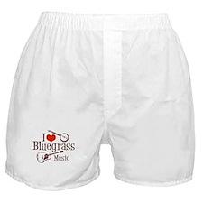 I Love Bluegrass Boxer Shorts