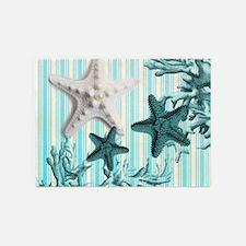 modern beach seashells starfish coral paris art 5'