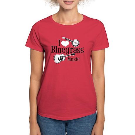 I Love Bluegrass Women's Dark T-Shirt