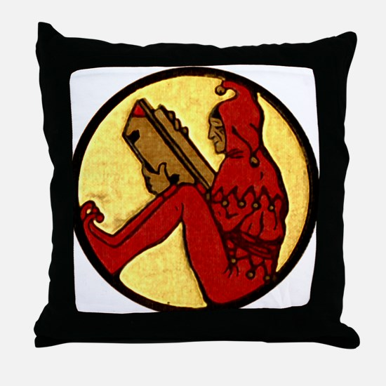 Reading Jester Throw Pillow