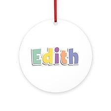 Edith Spring14 Round Ornament