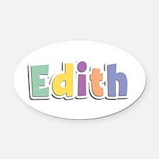 Edith Spring14 Oval Car Magnet