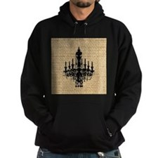 burlap black chandelier art Hoody